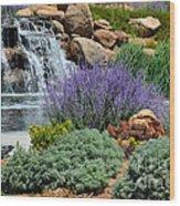 Waterfall Lanscape Wood Print