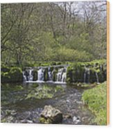 Waterfall Lathkill Dale Derbyshire Wood Print