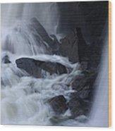 Waterfall Motion Wood Print