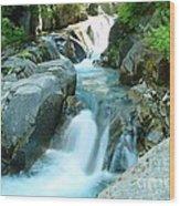 Waterfall Near Paradise Wood Print