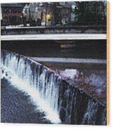 Waterfall New Hope Pa Wood Print