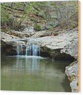 Waterfall On Piney Creek Wood Print
