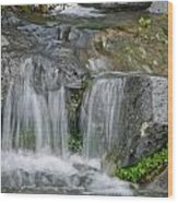 Waterfall On The Paradise River Wood Print
