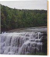 Waterfall On The River Wood Print