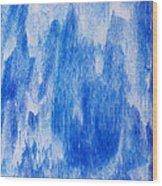 Waterfall Painting Wood Print