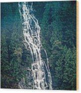 Waterfall Princess Louisa Inlet Wood Print
