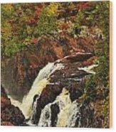 Waterfall Quebec 2 Wood Print