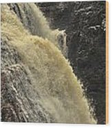 Waterfall Quebec 3 Wood Print