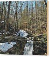 Waterfall Rush Wood Print