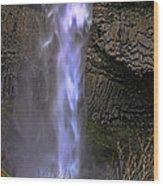 Waterfall Spray Wood Print