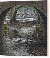 Waterfall Under Railroad Tracks Wood Print