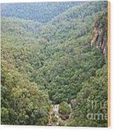 Waterfall Valley Wood Print