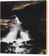 Waterfall- Viator's Agonism Wood Print by Vijinder Singh