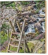 Waterfall Way Wood Print
