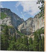 Waterfall, Yosemite Valley, Yosemite Wood Print