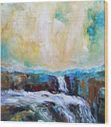 Waterfalls 2 Wood Print