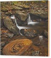Waterfalls And Swirl Wood Print