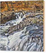 Waterfalls At Fishkill Creek Wood Print