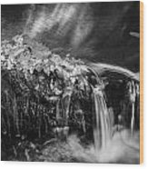 Waterfalls Childs National Park Painted Bw   Wood Print