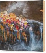 Waterfalls Childs National Park Painted  Wood Print