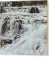 Waterfalls Flowing Wood Print