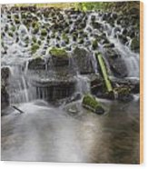 Waterfalls In Marlay Park Wood Print