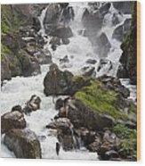 waterfalls in Pre Saint Didier Wood Print