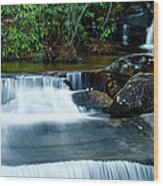 Waterfalls Of Carreck Creek Wood Print