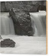 Waterfalls On Nigel Creek Wood Print