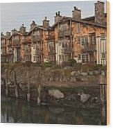 Waterfront Apartments Wood Print