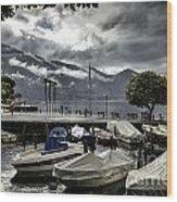 Waterfront At Ascona Wood Print