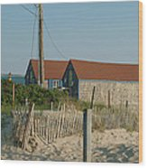 Waterfront Beach Cottages Wood Print