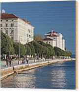Waterfront Promenade In Zadar Wood Print