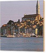Waterfront, Rovinj, Croatia Wood Print