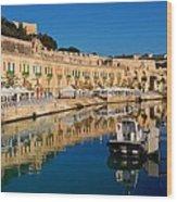 Reflect In Valletta Malta Wood Print