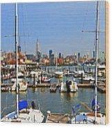 Waterfront View Hoboken Wood Print