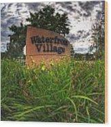 Waterfront Village Wood Print