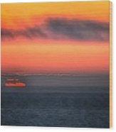 Waterline Sunset 17573 Wood Print