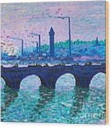Waterloo Bridge Homage To Monet Wood Print by Kevin Croitz