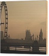 Waterloo Bridge View Wood Print