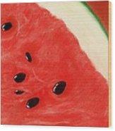 Watermelon Wood Print by Anastasiya Malakhova