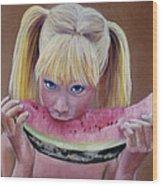 Watermelon Bite Wood Print