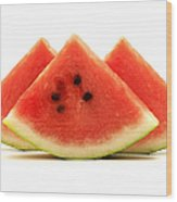 Crimson Sweet Watermelon Wood Print