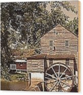 Watermill Two Wood Print