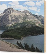 Waterton Lake Wood Print by Carolyn Ardolino