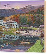 Waterville Estates In Autumn Wood Print by Nancy Griswold