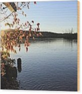 Waterways River View Wood Print