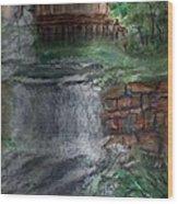 Waterwheel Wood Print