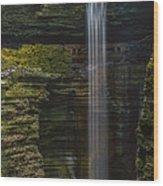 Watkins Glen Central Cascade Wood Print