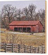 Watkins Mill Barn Wood Print